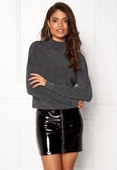 Jacqueline de Yong Julia L/S Pullover Black/Silver Bubbleroom.se