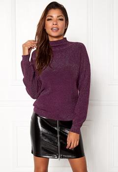 Jacqueline de Yong Julia L/S Pullover Potent Purple Bubbleroom.se