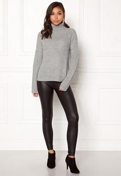 Jacqueline de Yong Justy L/S Pullover Light Grey Melange Bubbleroom.no