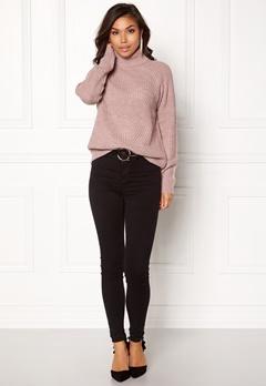 Jacqueline de Yong Justy L/S Pullover Rose Taupe Bubbleroom.eu