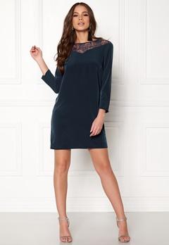 Jacqueline de Yong Kira 7/8 Lace Dress Dress Blues Bubbleroom.se