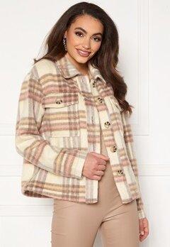 Jacqueline de Yong Loles Check Shirt Jacket Woodrose Bubbleroom.se