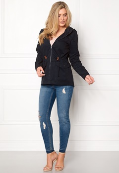 Jacqueline de Yong Mandy Short Spring Jacket Dark Navy Bubbleroom.fi