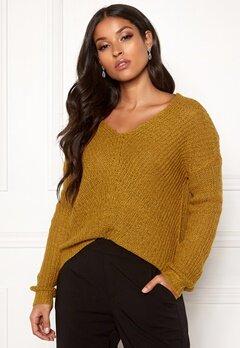 Jacqueline de Yong Megan L/S Pullover Harvest Gold Bubbleroom.se