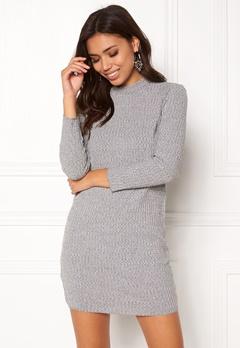Jacqueline de Yong Mei l/s High Neck Dress Light Grey Melange Bubbleroom.fi
