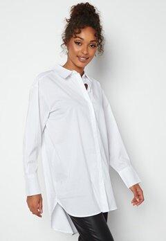 JDY Mio L/S Long Shirt White Bubbleroom.se