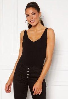 Jacqueline de Yong Nanna S/L Top Knit Black Bubbleroom.se