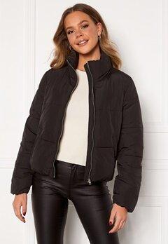 Jacqueline de Yong NewErica Padded Jacket Black Silver zipper Bubbleroom.se
