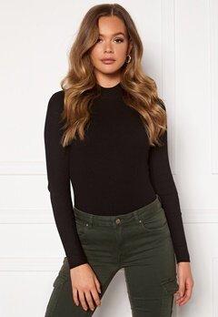Jacqueline de Yong Newmaryan L/S Highneck Pullover Knit Black Bubbleroom.se