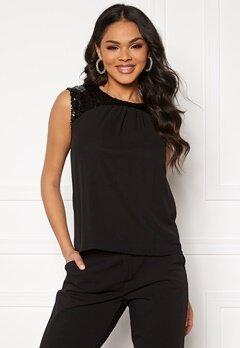 Jacqueline de Yong Otis Upper Sequins Top Black/Sequins Bubbleroom.se