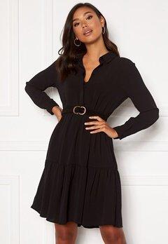 Jacqueline de Yong Piper L/S Shirt Dress Black Bubbleroom.se