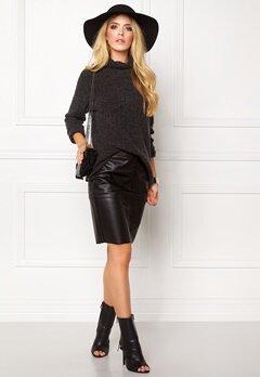 Jacqueline de Yong Raven highneck pullover Dark grey melange Bubbleroom.se