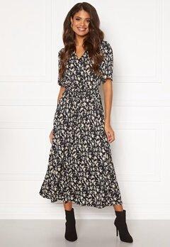 Jacqueline de Yong Rock 2/4 Long Shirt Dress Black AOP Flower Bubbleroom.se