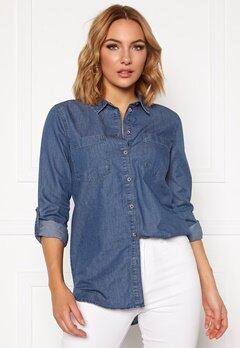 Jacqueline de Yong Roger L/S Long Shirt Medium Blue Denim Bubbleroom.se