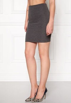 Jacqueline de Yong Sax Skirt Dark Grey Melange Bubbleroom.dk