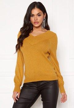 Jacqueline de Yong Shanon L/S Pullover Harvest Gold Bubbleroom.se