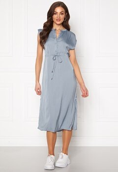 Jacqueline de Yong Sheela S/S Long Dress Faded Denim Bubbleroom.se
