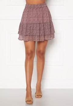 Jacqueline de Yong Sibel Short Skirt Wistful Mauve AOP Bubbleroom.se