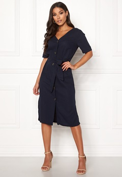 Jacqueline de Yong Sierra Belt Midi Dress Sky Captain Bubbleroom.se