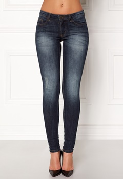 Jacqueline de Yong Skinny Florence Jeans Dark Blue Denim Bubbleroom.dk