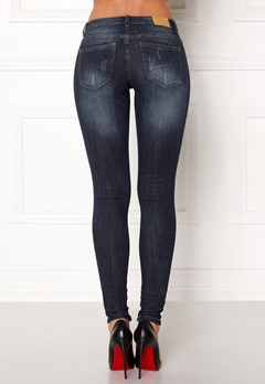 Jacqueline de Yong Skinny Florence Jeans Dark Blue Denim Bubbleroom.se