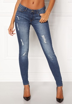 Jacqueline de Yong Skinny Low Flora Medium Blue Denim Bubbleroom.fi