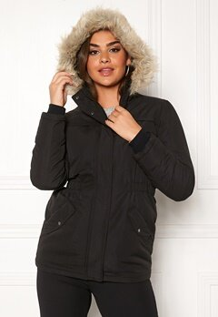 Jacqueline de Yong Star Kia Parka Jacket Black Bubbleroom.se