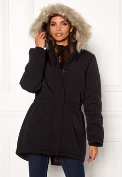 Jacqueline de Yong Star New Fall Parka Black Bubbleroom.se