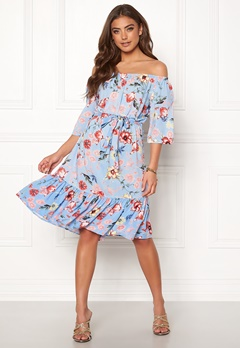 2271d5e6e9cb Jacqueline de Yong Star Offshoulder Dress Cashmere Blue Bubbleroom.se