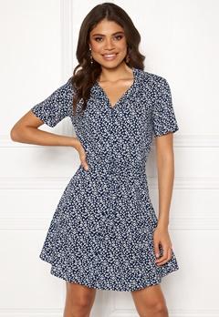 Jacqueline de Yong Star S/S Shirt Dress Blue Depths Bubbleroom.se