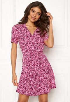 Jacqueline de Yong Star S/S Shirt Dress Cerise Bubbleroom.se
