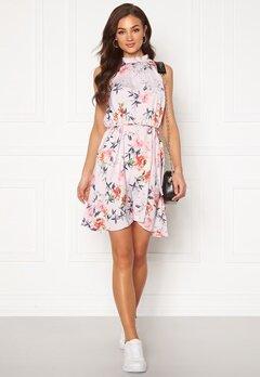 Jacqueline de Yong Sylvester S/L Dress Rose Smoke AOP:Flowe Bubbleroom.se