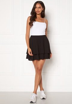 Jacqueline de Yong Tricky Layer Mini Skirt Black Bubbleroom.se