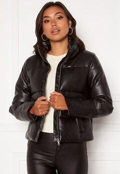 JDY Trixie Faux Leather Jacket Black bubbleroom.se