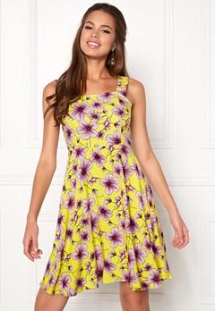 Jacqueline de Yong Victory Strap Dress Lemon Zest Bubbleroom.se