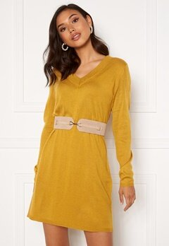 Jacqueline de Yong Zoe L/S Dress Harvest Gold Bubbleroom.se