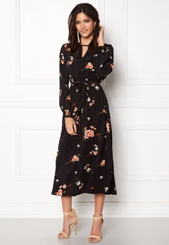ONLY Japaan Smock Midi Dress Black Bubbleroom.se