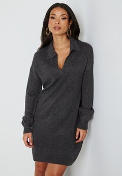 JDY Rue Vega L/S Dress Dark Grey Melange bubbleroom.se