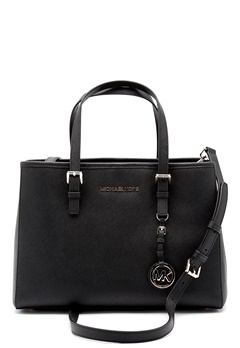Michael Michael Kors Jet Set Leather Bag Black Bubbleroom.fi