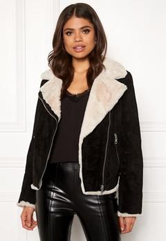 JOFAMA Bella Leather Jacket 00 Black Bubbleroom.se