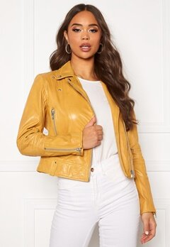 JOFAMA Kajta Leather Jacket Yellow Bubbleroom.se
