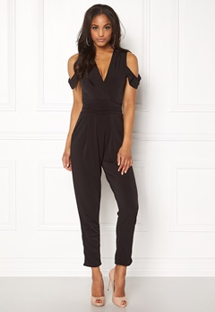 John Zack Cold Shoulder Jumpsuit Black Bubbleroom.no