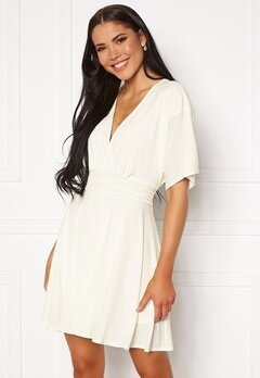 John Zack Kimono Sleeve Dress White Bubbleroom.se