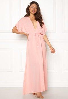 John Zack Kimono Wrap Maxi Dress Rose Pink Bubbleroom.se
