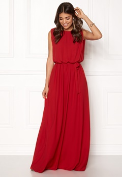 John Zack Open Back Maxi Dress Red Bubbleroom.dk