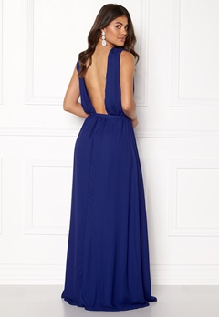 John Zack Open Back Maxi Dress Royal Blue Bubbleroom.dk