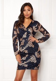SELECTED FEMME Joye LS Lace Dress Dark Sapphire Bubbleroom.se
