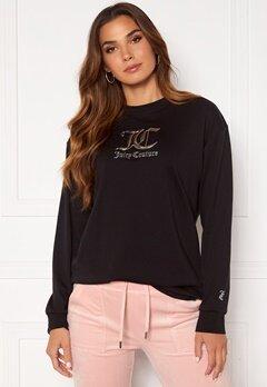 Juicy Couture June L/S Boyfriend T-Shirt Black Bubbleroom.se