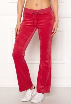 Juicy Couture Luxe Velour Del Rey Pant Cherry Top Bubbleroom.se