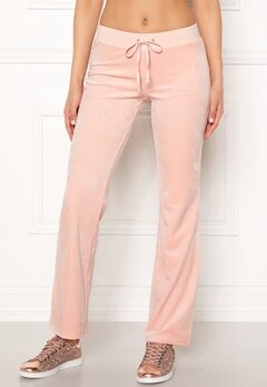 Juicy Couture Luxe Velour Del Rey Pant Pink Shadow Bubbleroom.se